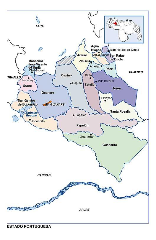 Mapa De Venezuela Estados
