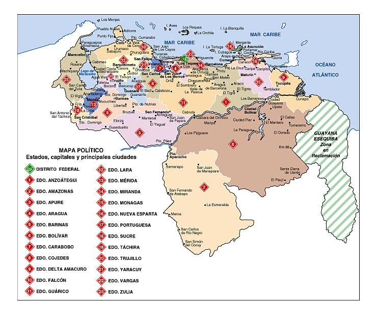 Venezuela en Mapas - TUSMETROS.